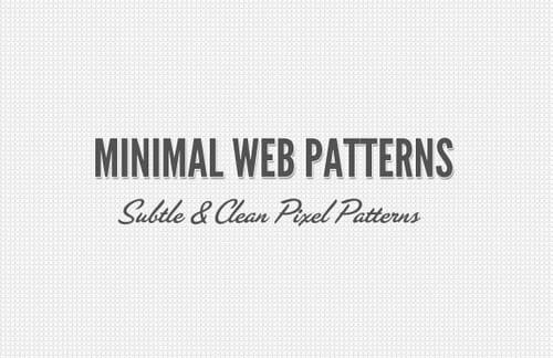 Minimal Web Pixel Patterns
