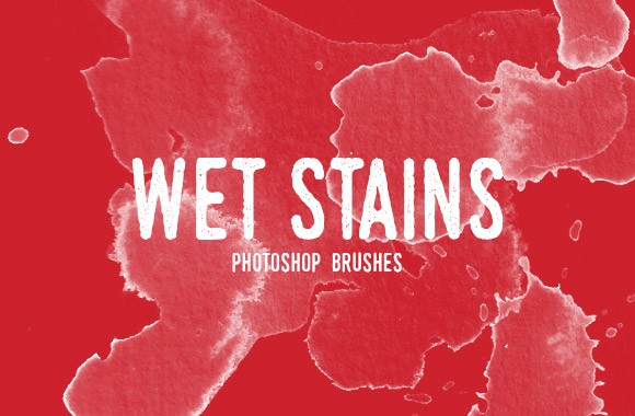 Wet Stains Photoshop Brush Set