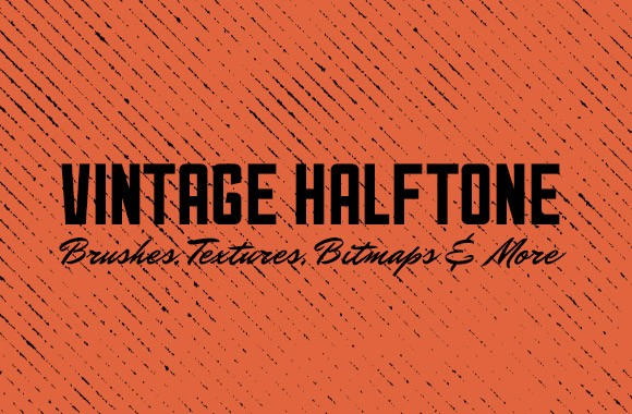 Vintage Halftone - Brushes, Textures and More
