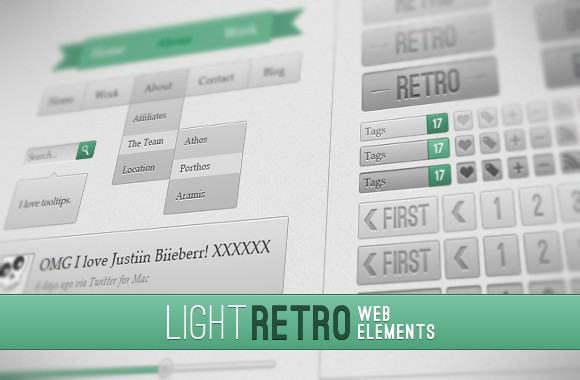 Light Retro Web Elements