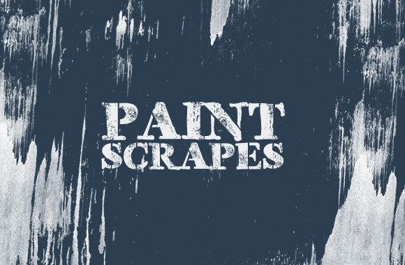 Paint Scrapes Photoshop Brush Set