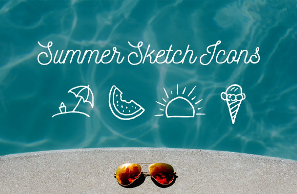 Summer Sketch Icons