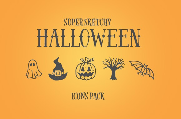 Super Sketchy Halloween Icons