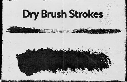 Vector Dry Brush Strokes