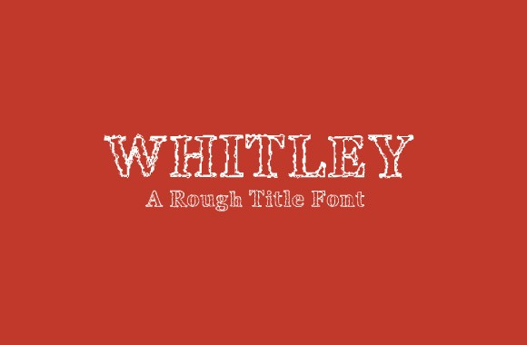 Whitely Scribble - A Rough Title Font