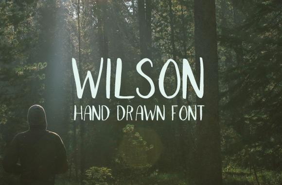Wilson - Hand Drawn Font
