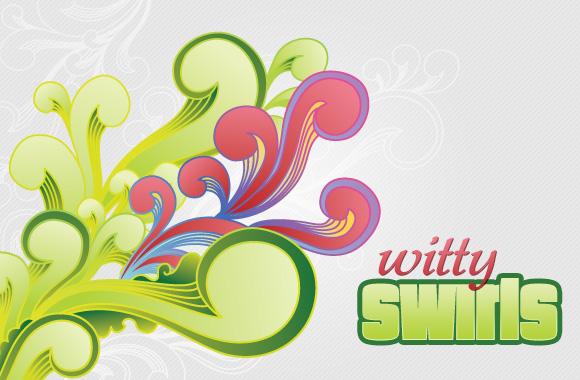 Witty Swirls Vector Set