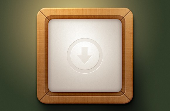 Wooden Style App Icon - Free Template