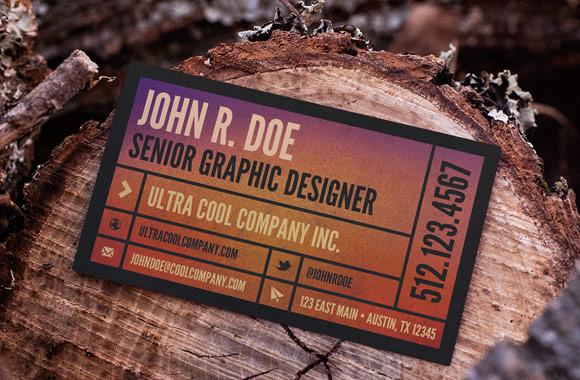 Wood Scene Business Card Mockups