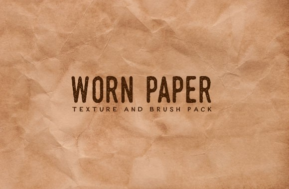 Worn Paper Textures and Brush Pack