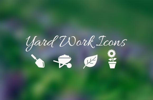 Yard Work Vector Icons