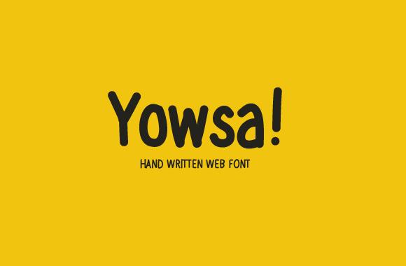 Yowsa - Hand Written Web Font