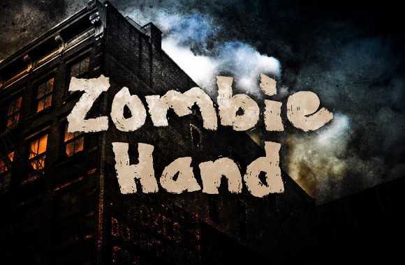 Zombie Hand - Painted Font Face