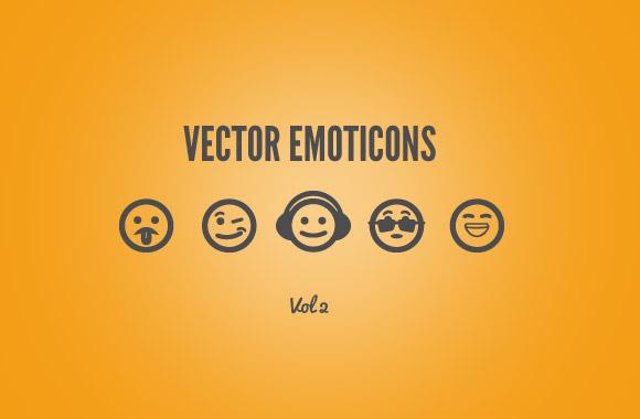 25 Free Vector Emoticons - Vol 2