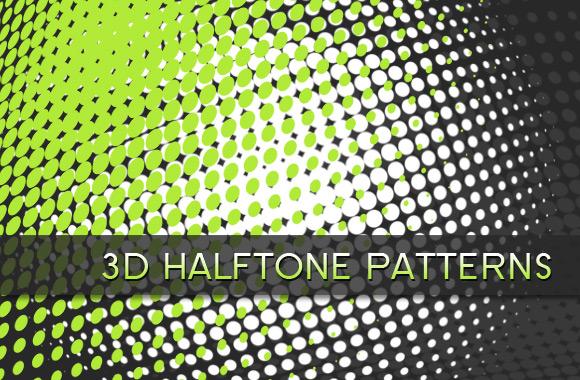 3D Halftone Patterns Brush Set