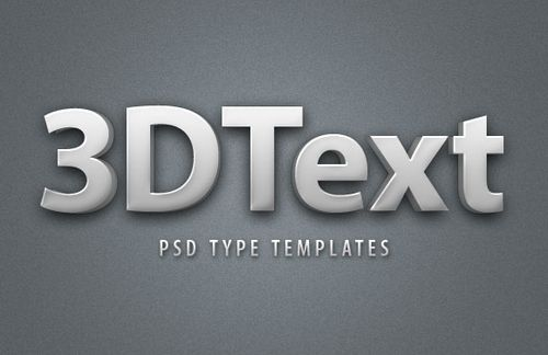 3D Text Style Template