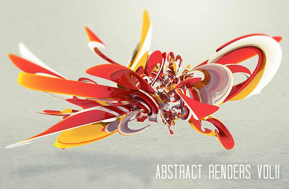3D Abstract Renders Vol2
