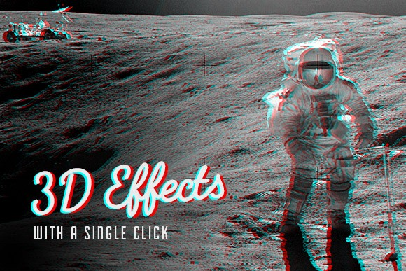 Vintage 3D Actions for Photoshop