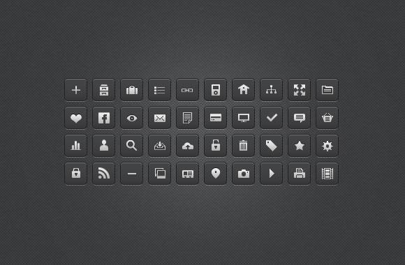 25 Mini Media Icons