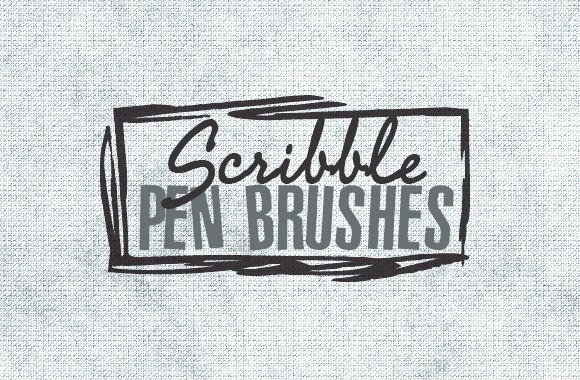 50 Scribble Pen Art Brushes