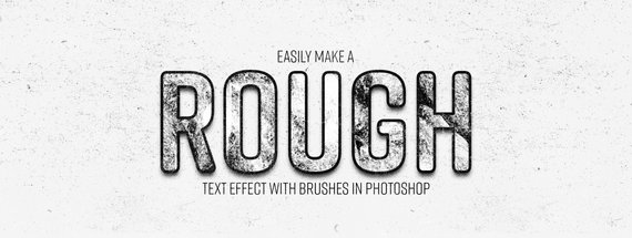 Easily Make a Rough Text Effect with Brushes in Photoshop