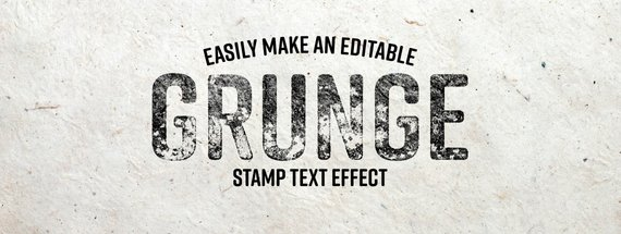 Easily Make an Editable Grunge Stamp Text Effect in Photoshop