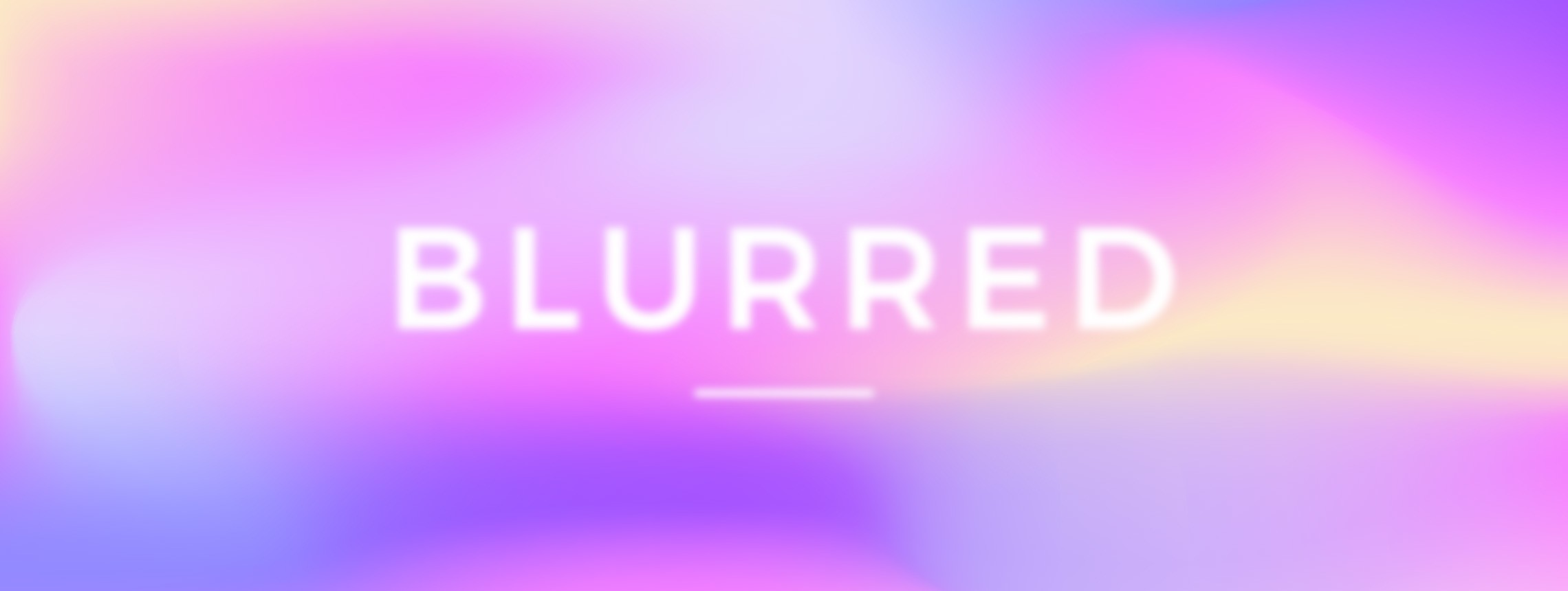 How to Make a Colorful Blurred Background
