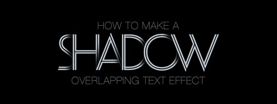 How to Make a Shadow Overlapping Text Effect in Photoshop