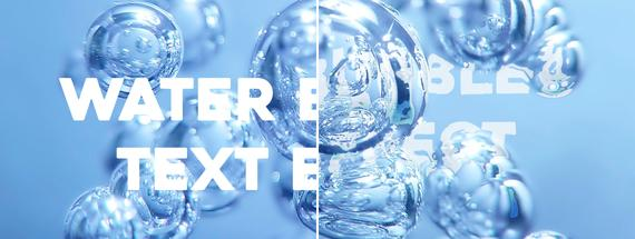 How to Make a Water Bubbles Distorted Text Effect in Photoshop