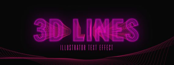 How to Make an editable 3D Line Text Effect in Illustrator