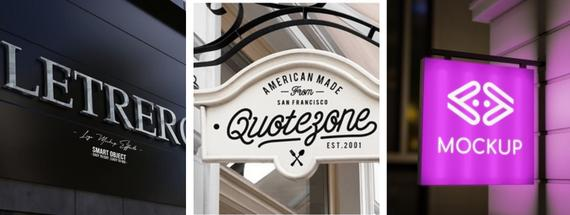 45 Sign Mock-Ups That Catch the Eye (in 2021)