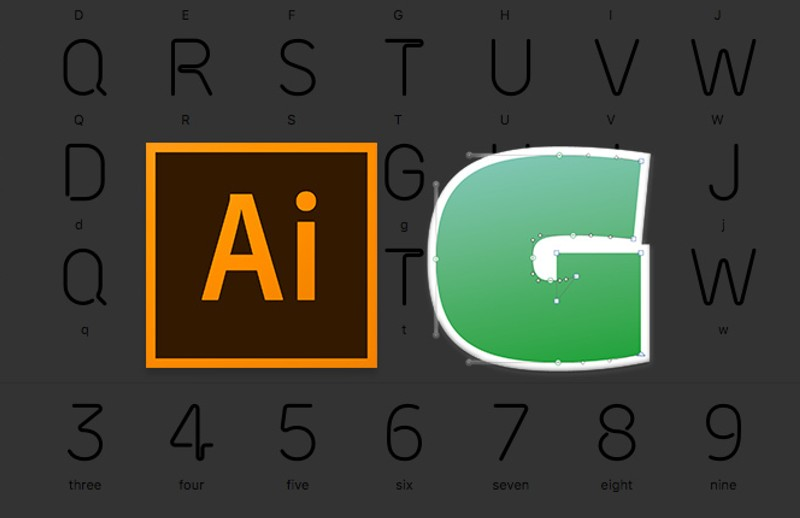 How to Make a Neon Font with Illustrator and Glyphs App