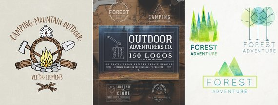 14 Outdoor Logos for that Woodsy, Campfire Feel