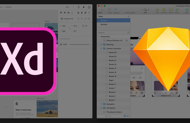 Why Adobe XD and Sketch are not Competitors (but InVision Studio might be)