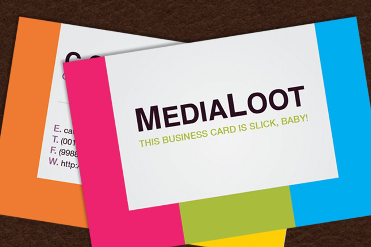How To Create A Colorful Business Card Template in ...