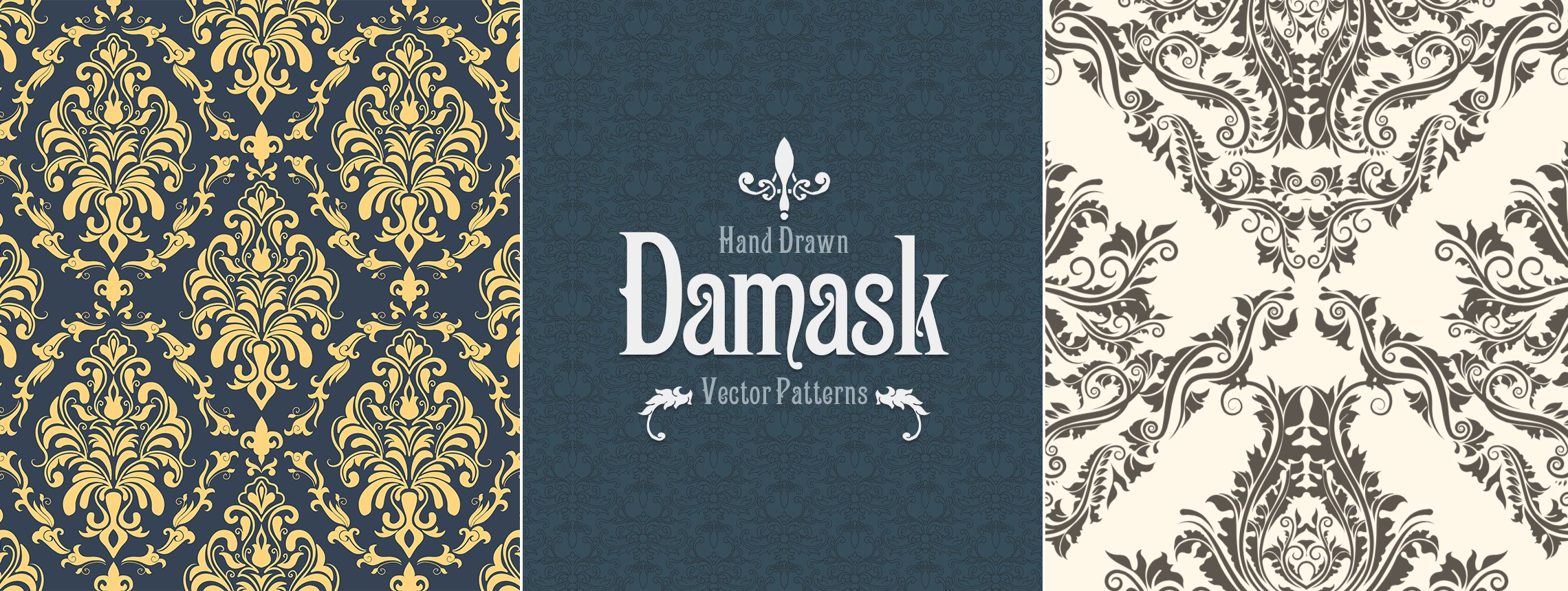 22 Beautiful Damask Patterns