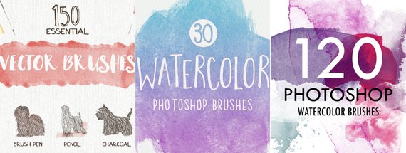 38 of the Best Watercolor Brushes for Photoshop
