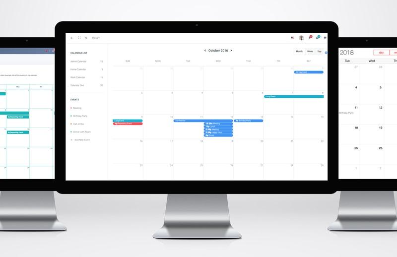 16 Bootstrap Calendar Templates to Plug & Play
