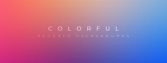 30 Colorful Blurred Backgrounds to Make Mockups Pop