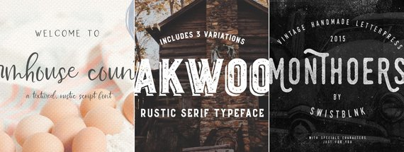 26 Farmhouse Fonts that are Woodsy and Modern