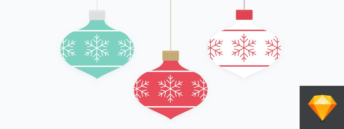 How to Create a Vector Festive Bauble Ornament with Sketch