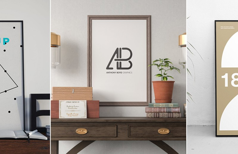 25+ Gorgeous Poster Mockups for Photoshop