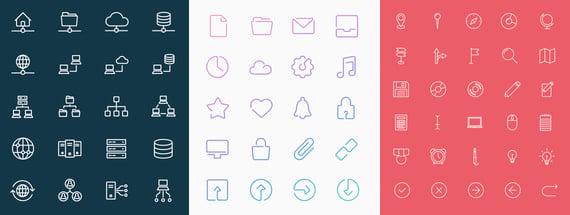 37 Gorgeous, Simple Line Icon Sets
