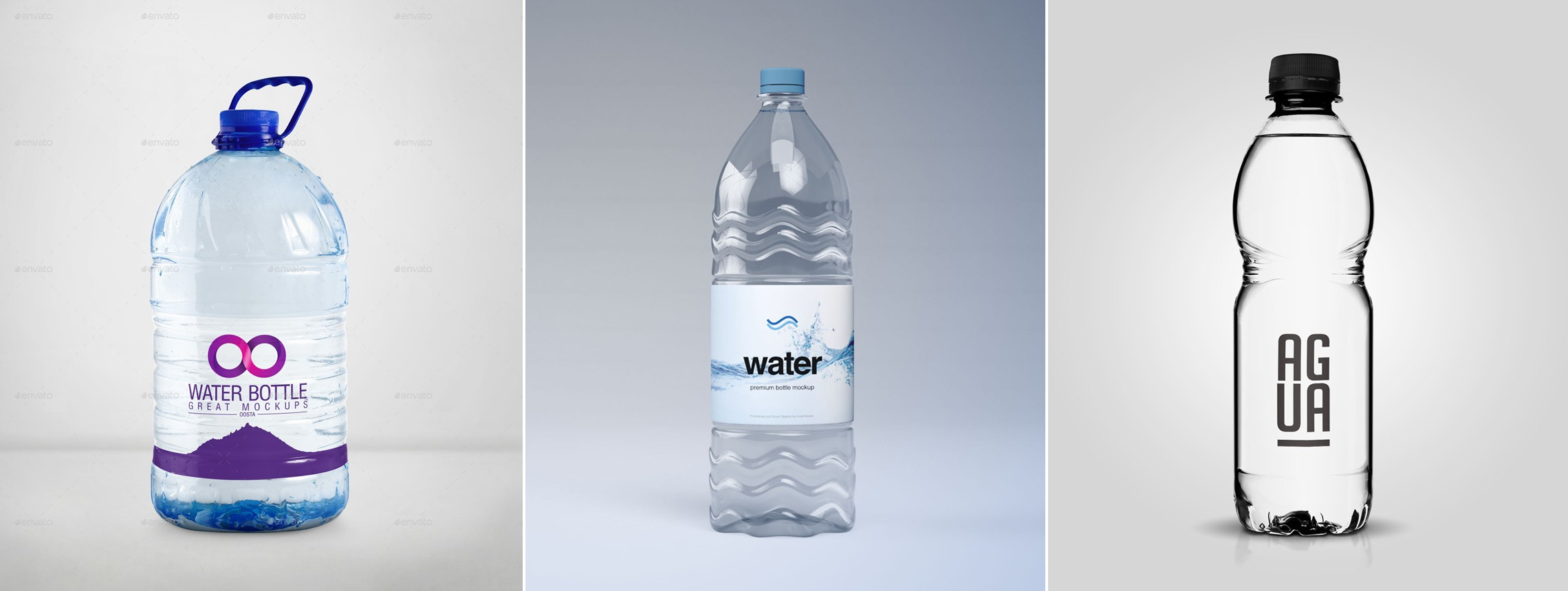 22 Gorgeous and Pure Water Bottle Mockups