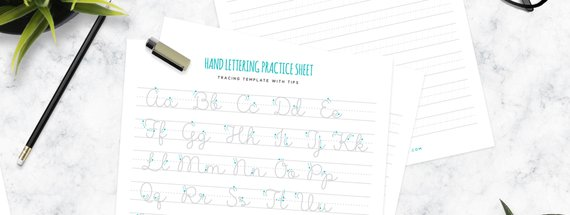 How to Get Started with Hand Lettering (Free Printable Worksheets)