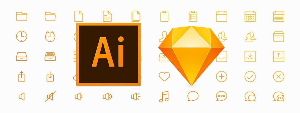 10 Free Line Icon Sets for Sketch and Illustrator
