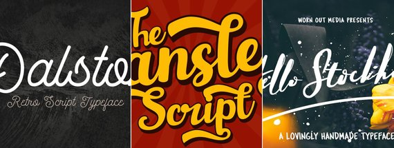 21 Retro Script Fonts from the 70s, 80s, and 90s