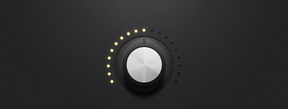 How to Create a Detailed Audio Rotary Knob Control in Photoshop & Illustrator