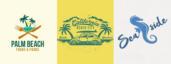 11 Beautiful Sandy Beach Logos
