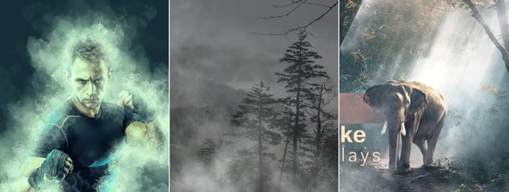 21 Smoke Effect Mockups — Vector, Photo, and PSD